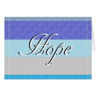 Cartão ESPERANÇA no azul