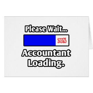 Cartão Espere por favor… a carga do contador