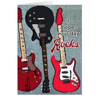 Cartão Espere suas rochas do dia