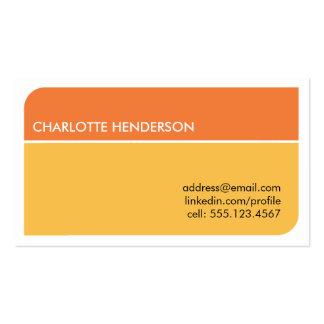 Cartão esperto alaranjado ensolarado do resumo do  modelo cartões de visita