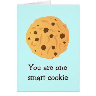 Cartão esperto do biscoito