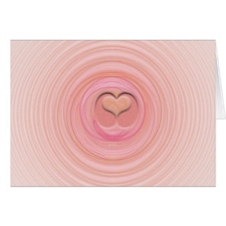 Cartão Espirais do Pastel do rosa e do pêssego
