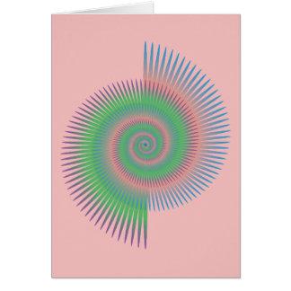 Cartão Espiral da roda de Catherine