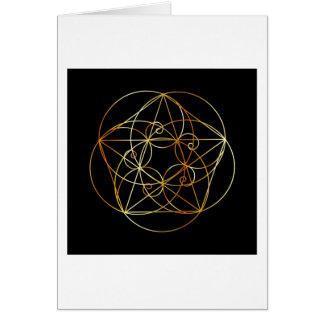 Cartão Espiral de Fibonacci a geometria sagrado
