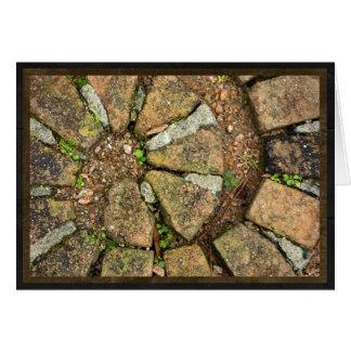 Cartão Espiral de tijolos do pavimento