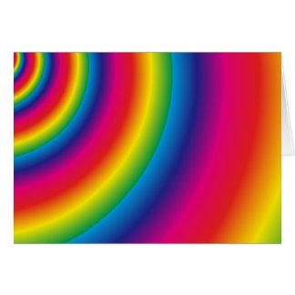 Cartão Espiral do arco-íris