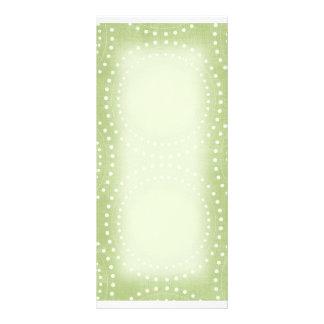 Cartão espiral verde da cremalheira 10.16 x 22.86cm panfleto