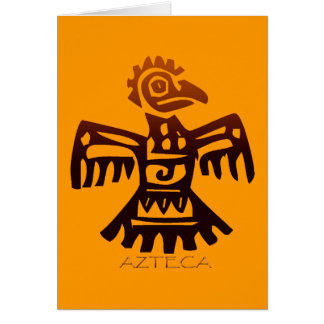 Cartão Espírito ASTECA do pássaro do ~