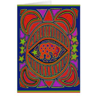 Cartão Espírito da tartaruga do Shaman