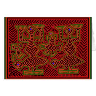 Cartão Espírito indianos do Mola de Kuna