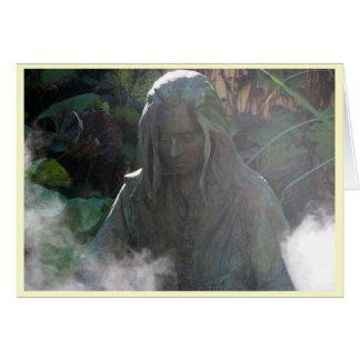 Cartão Espírito na névoa