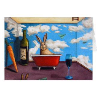 Cartão Espírito pequenos do coelho