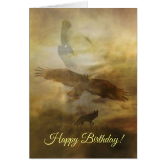 Cartão espiritual do nativo americano do feliz