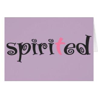 Cartão Espirituoso tenha o roxo de Notecard da fé