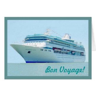 Cartão esplêndido do bon voyage da navigação