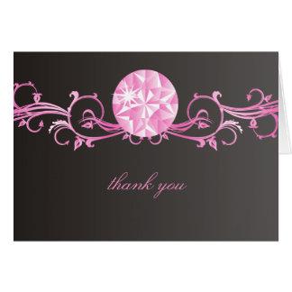 Cartão Esplendor cor-de-rosa do diamante 311