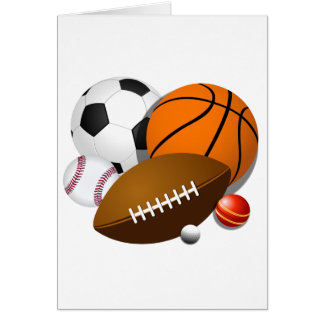 cartão Esporte-temático do dia de pais