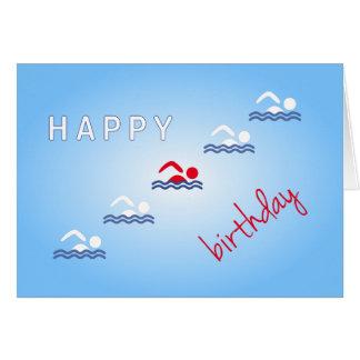 Cartão Esportes do azul do feliz aniversario dos