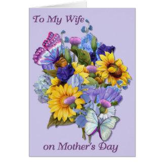 Cartão Esposa no dia das mães