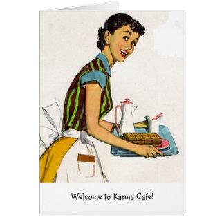 Cartão Esposa retro - boa vinda ao café das karmas,