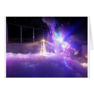 Cartão Espuma azul das luzes de lasers