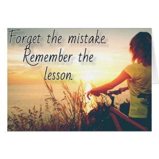 Cartão Esqueça a lição