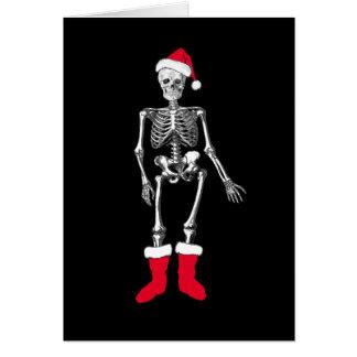 Cartão Esqueleto confuso