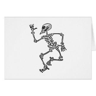 Cartão Esqueleto da dança