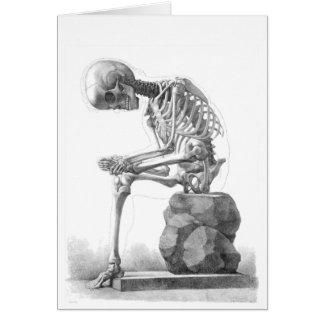 Cartão Esqueleto de assento