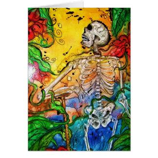 """Cartão Esqueleto do cavalheiro do """"Jardim do Éden"""" no"""