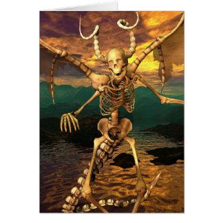 Cartão Esqueleto do demónio