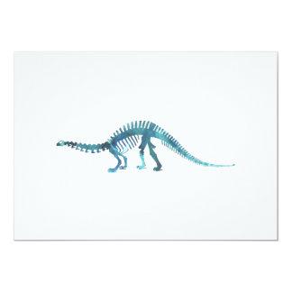 Cartão Esqueleto do dinossauro