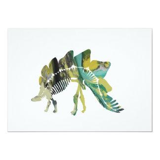 Cartão Esqueleto do Stegosaurus