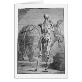 Cartão Esqueleto & rinoceronte