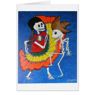 Cartão Esqueletos da dança