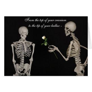 Cartão Esqueletos engraçados no amor