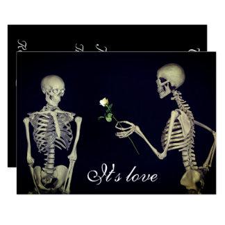 Cartão Esqueletos no casamento do amor