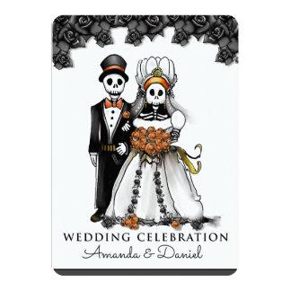 Cartão Esqueletos OrangeTogether do Dia das Bruxas com