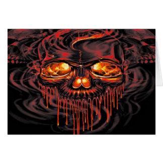 Cartão Esqueletos vermelhos sangrentos