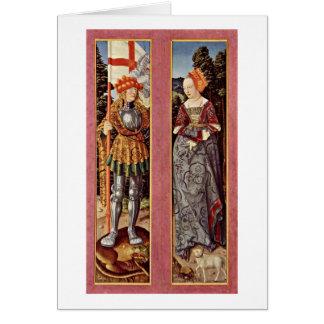 Cartão Esquerda: Direito de St George: St.Agnes por Hans