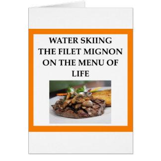 Cartão esqui aquático