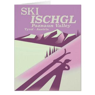 Cartão Esqui Ischgl, vale Tirol de Paznaun