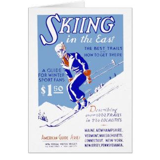 Cartão Esqui no leste