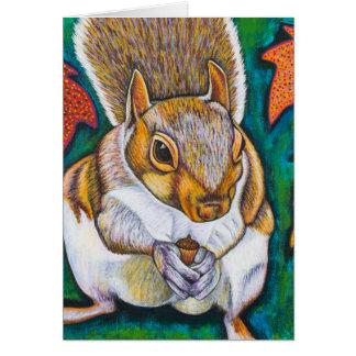 Cartão Esquilo da queda