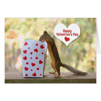 Cartão Esquilo do dia dos namorados