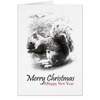 Cartão Esquilo, Feliz Natal & ano novo