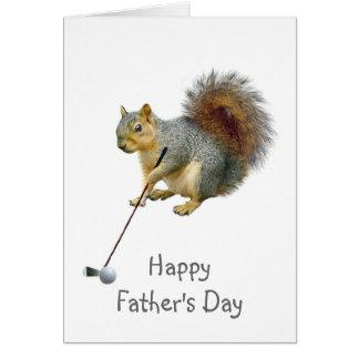 Cartão Esquilo Golfing