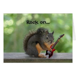 Cartão Esquilo que joga a guitarra elétrica