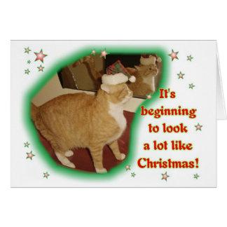 Cartão Está começando a olhar muito como o Natal