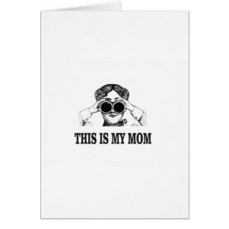 Cartão esta é minha mamã